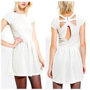UO KIMCHI BLUE Shimmer Cream A-Line Dress